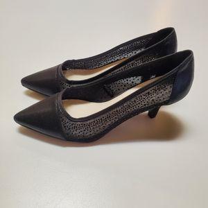 Anne Klein Semi sheer 2inch heel with sparkle